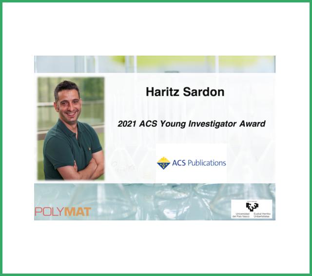2021 ACS Young Investigator Award goes to Haritz Sardon
